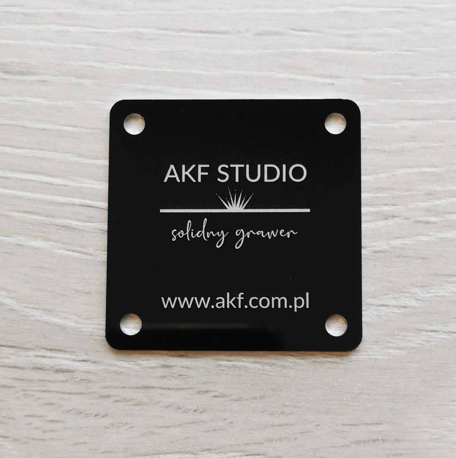 aluminium anodowane tabliczka z logo grawerowana laserem