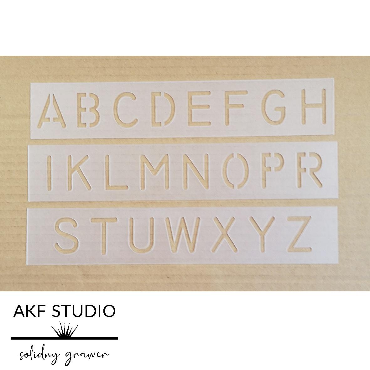 szablon litery cyfry do malowania
