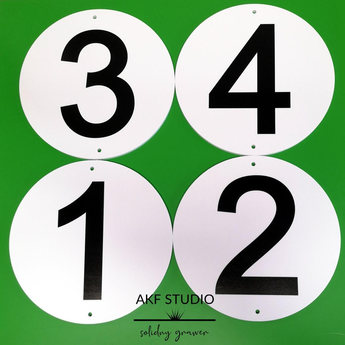 tabliczki na bramy z numeracja drukowane